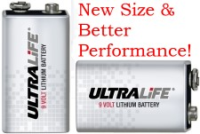 U9VL-J & U9VL-FP New U9VLJP10 & U9VLJFP Lithium 9-Volt Battery.
